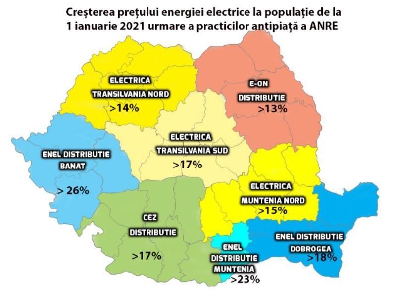 Scandalul facturilor la energie electrica: ANRE creează avantaje anticoncurențiale marilor furnizori