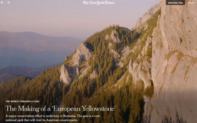 "The New York Times: ""În România se creează un Yellowstone european"""