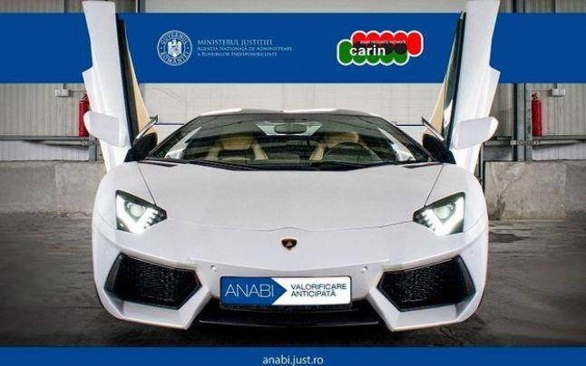 Un Lamborghini Aventador scos la vânzare de statul român intre alte bunuri confiscate