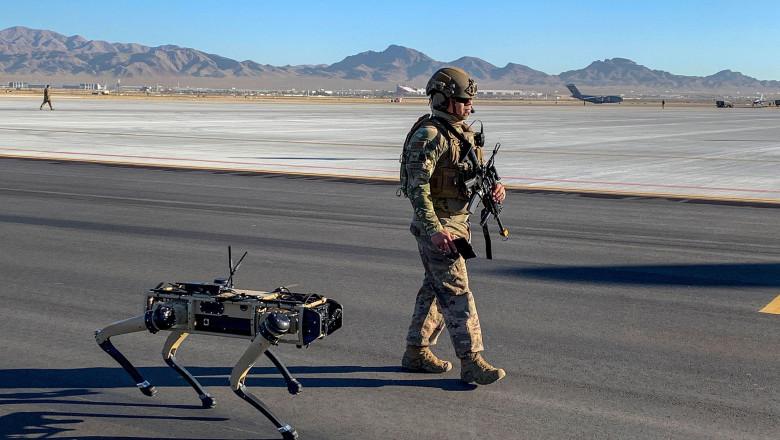 Viitorul incepe azi! Bazele militare ale SUA vor fi păzite de câini-roboţi